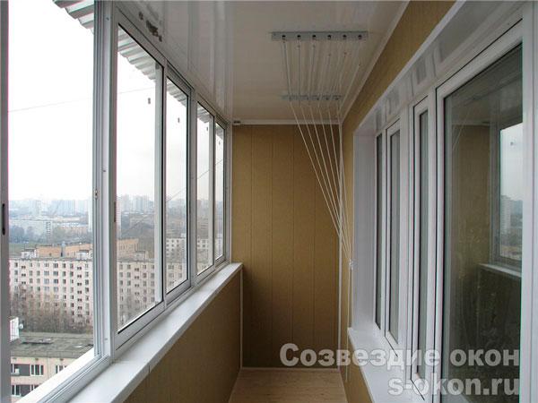 Остекление балконов п-46 пример