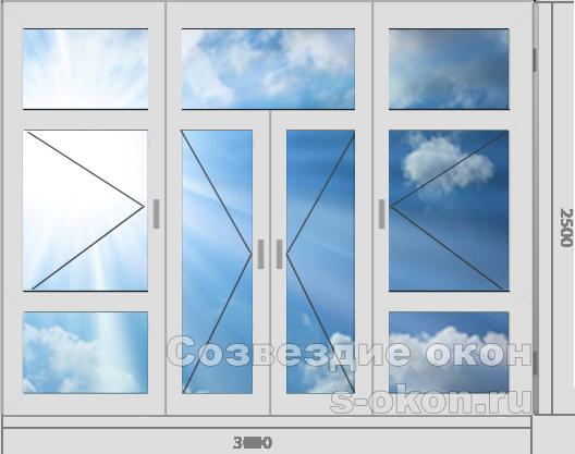 Стоимость витринного остекления