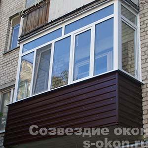 Фото отделки балкона под ключ