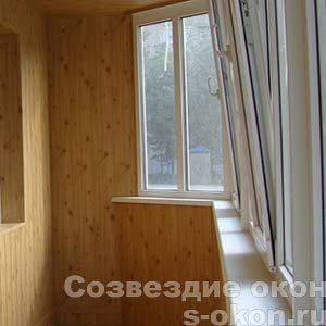 Фото отделки балкона внутри