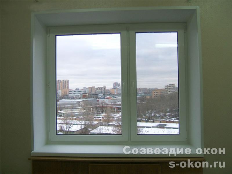 Окна в кирпичном доме