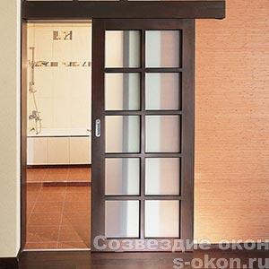 Фото одностворчатой межкомнатной раздвижной двери