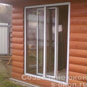 Раздвижные окна в доме