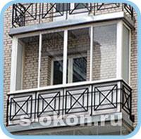Раздвижные пластиковые окна на балконе