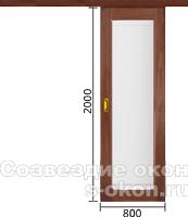 Цена на стеклянную дверь-купе