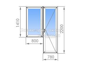Балконный блок в 1-515/9M