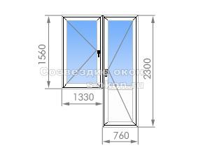 Балконный блок 1-515/9Ш