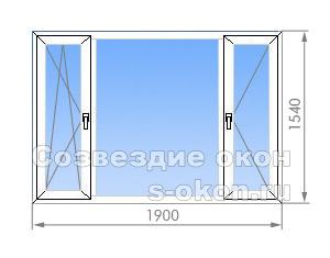 Трехстворчатое окно И-700А