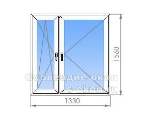 Двухстворчатое окно в II-29