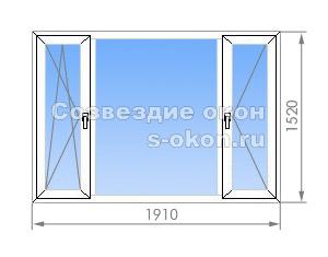 Треххстворчатое окно в II-49