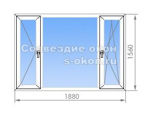 Трехстворчатое окно в II-57