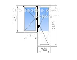 Балконный блок П-30