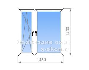 Двухстворчатое окно в П-42