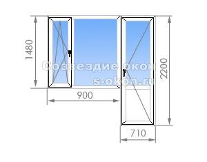 Балконный блок П-44М