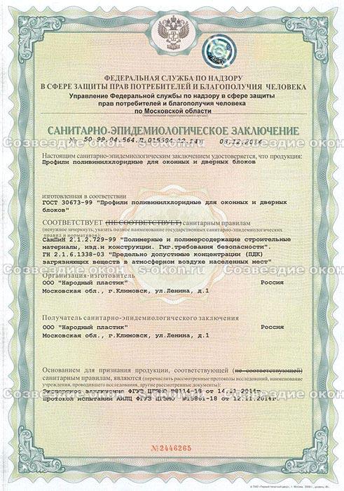Сертификат Новотекс