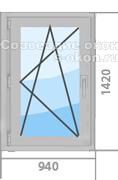 Цена на серое окно ПВХ
