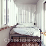 Фото спальни совмещенной с балконом