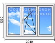 Цены на пластиковые окна стандартных размеров
