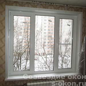 Готовые стандартные пластиковые окна