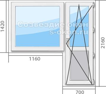 Звукоизолирующие окна в балконный блок
