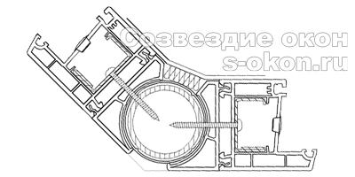 Эркерный соединитель 180 градусов