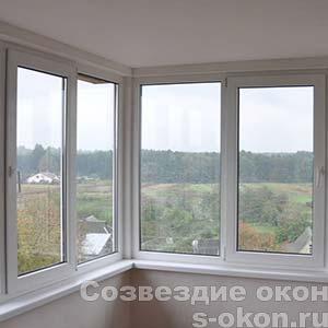 Фото углового окна