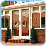 Входные алюминиевые двери для загородного дома